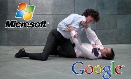 google contre microsoft