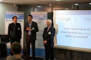 Nordahl Ballingall, Jérémie Paillard (Google) et Alain Dereux (Activis)