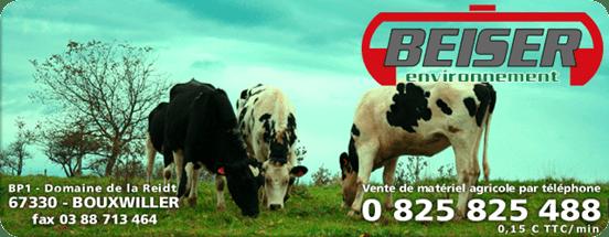Beiser Environnement, vente de matériel agricole