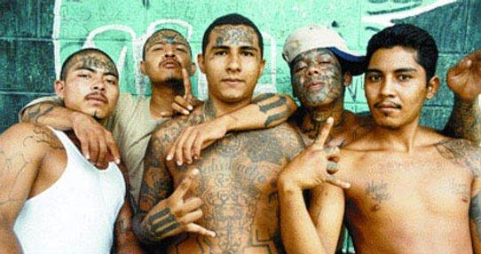 Les gangs sur Foursquare