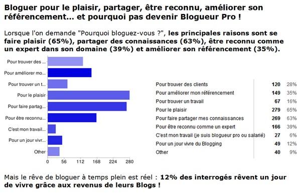 étude sur les blogs francophones