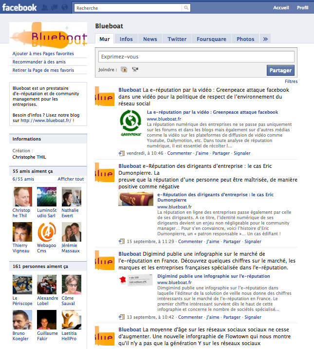 Créer une page facebook personnalisée