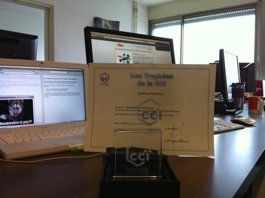 BlueBoat a remporté le trophée des entreprises dynamiques et performantes