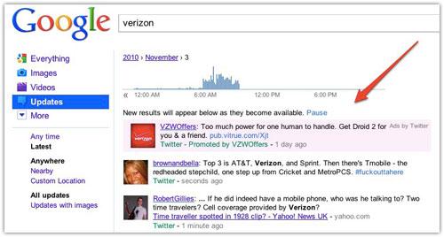 Tweets sponsorisés sur Google