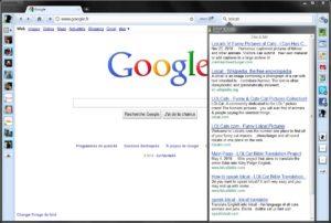 La recherche Google sous RockMelt