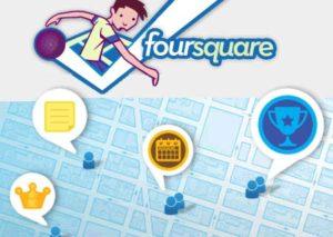 Réseau social Foursquare