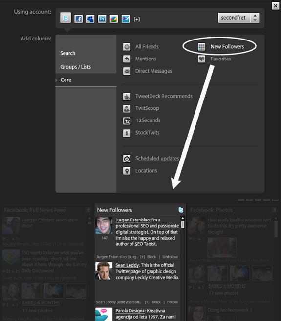 Afficher les derniers followers dans Tweetdeck