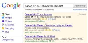 Avis de consommateurs dans les résultats Google