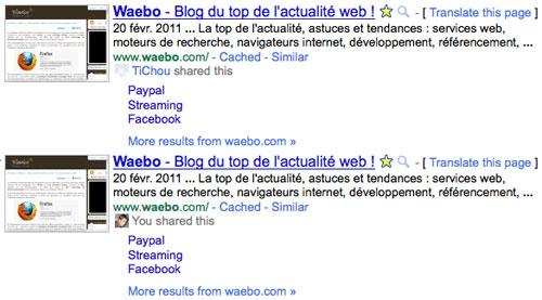 Google recherche sociale