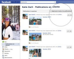 Facebook : identification sur les publications
