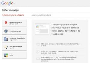Créer une page pour Google Plus