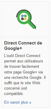 Google Plus : Direct Connect