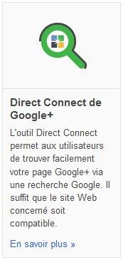 Google Plus : Direct Connect