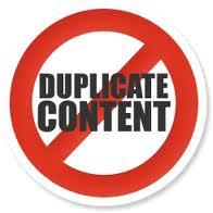 Interdiction da dupliquer le contenu