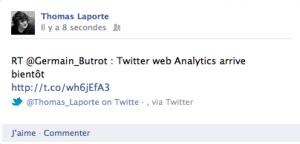 Integrer Twitter dans Facebook