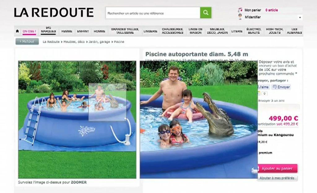 une piscine la redoute avec un crocodile Fail
