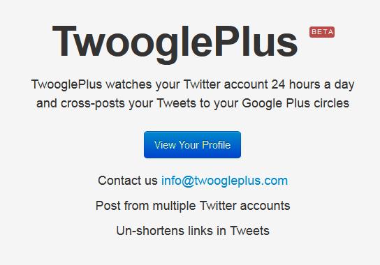TwooglePlus : et votre compte Twitter alimente votre compte Google+