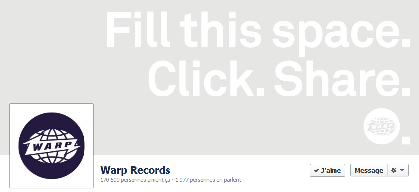 Couverture Facebook de Warp Records