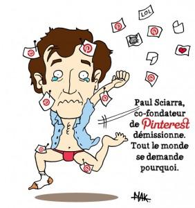 Paul Sciarra démissionne de chez Pinterest