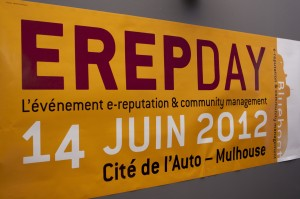 L'affiche à l'entrée de l'ErepDay 2012
