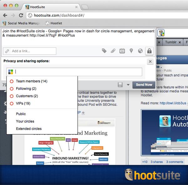 HootSuite intègre désormais la gestion des pags Google+