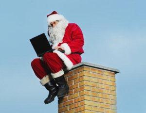 Père Noël médias sociaux