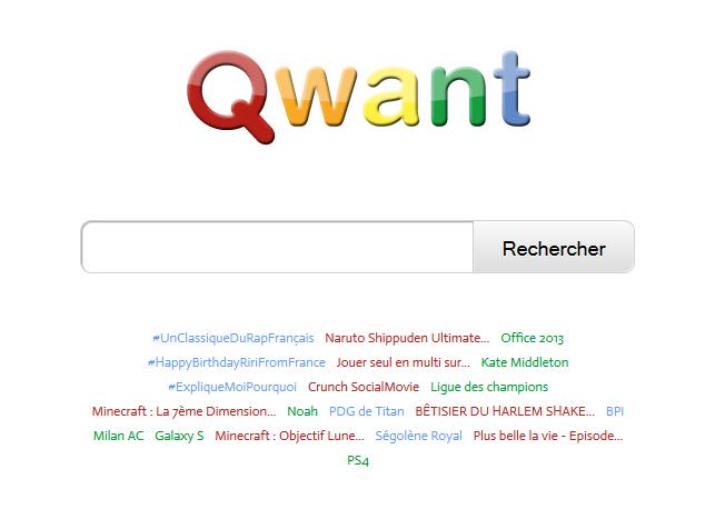 Le moteur de recherches Qwant