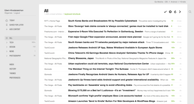 14.0.469 of feedly for Chrome