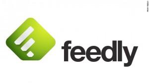 Logo de Feedly, agréagateur de flux RSS