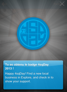 Badge 4sq Day 2013
