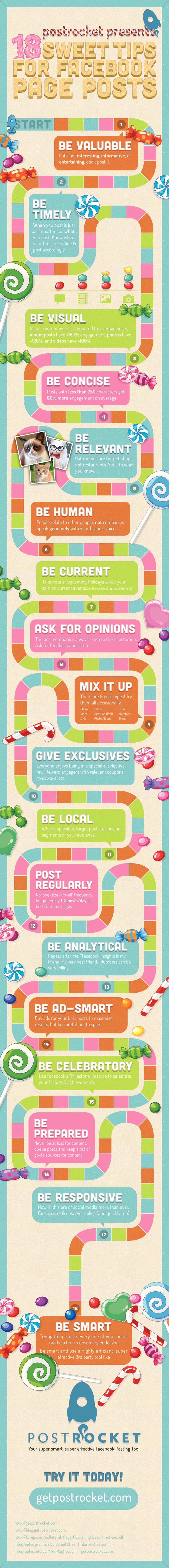 Infographie : 18 conseils pour optimiser ses publications Facebook