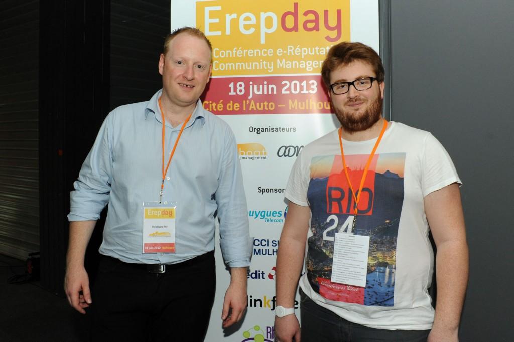 Fin de l'Erepday : Christophe Thil et Benjamin Romei ont le sourire
