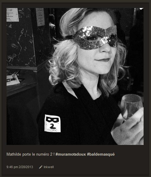 La magazine Paulette a organisé un bal masqué, relayé sur Instagram