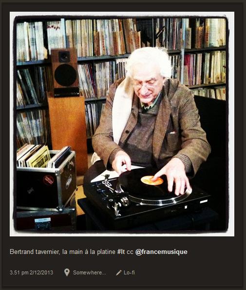 Radio Vinyle (Radio France) relaie sur Instagram les enregistrements de ses émissions