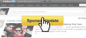 Posts sponsorisés sur LinkedIn