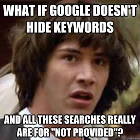 Google mots-clés not provided