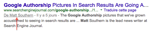 Google Authorship après