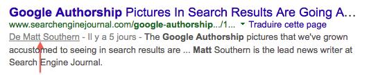 Google Authorship après