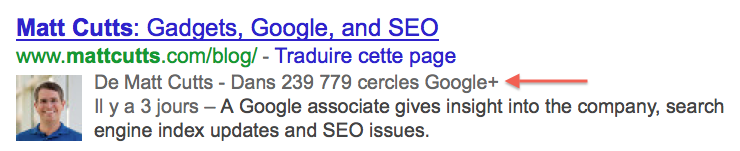 Google Authorship avant