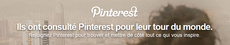 accueil pinterest