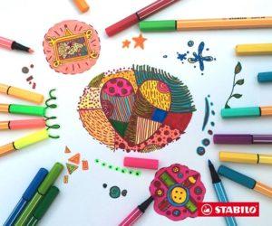 stabilo doodling
