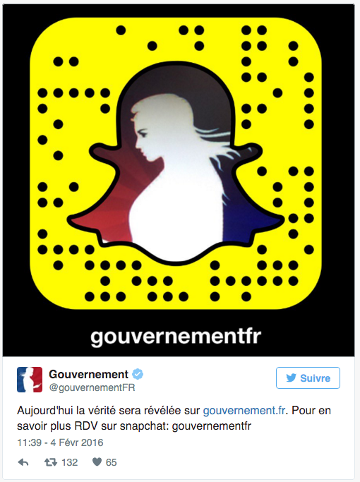 snapchat gouvernement