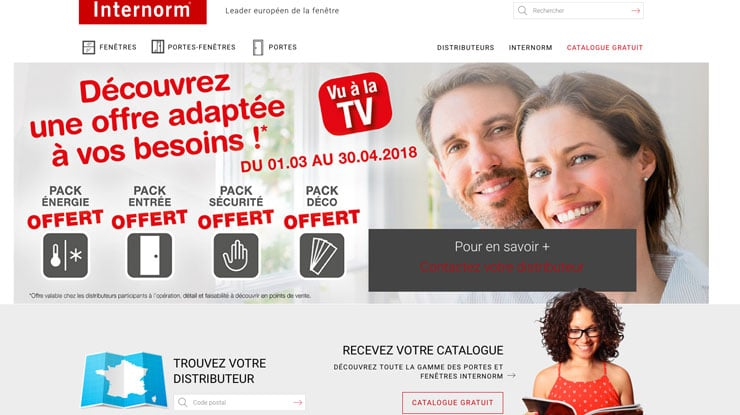 Accompagnement client : de la stratégie web à la TV avec Internorm France