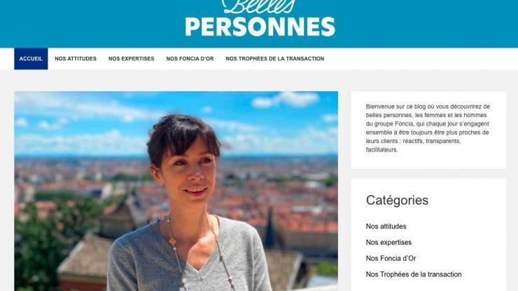 Belles Personnes, le blog qui valorise les collaborateurs de Foncia